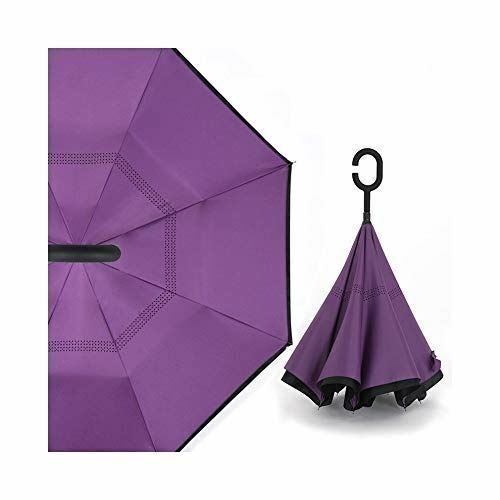 C Handle Windproof Reverse Folding Umbrella - Tri Products