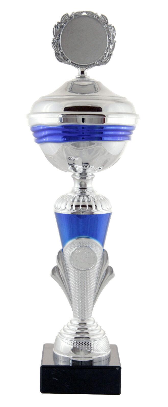 Top Pokal     9er Pokalserie Venedig, silber-blau, 21,5 - 47 cm inkl. Gravur 208f39