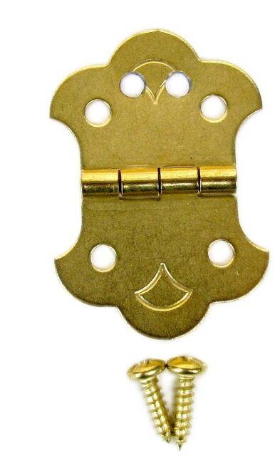 Cigar Box Guitar 4-String Brass Hinge Tailpiece with Screws & Guide