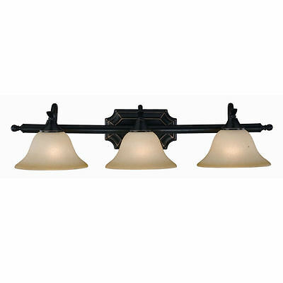 Oil Rubbed Bronze 3 Bulb Bathroom Light Wall Sconce #128049