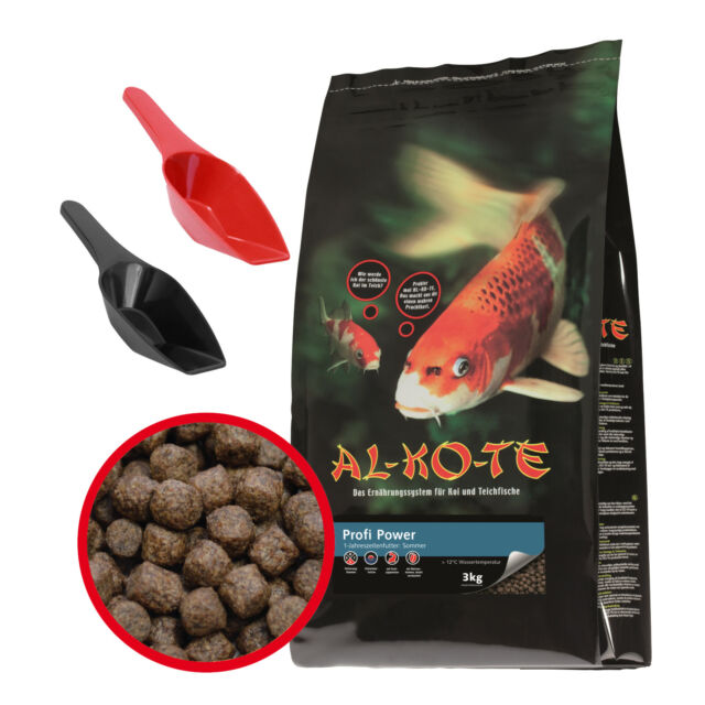 AL-KO-TE Profi Power 3 kg Koifutter 3 mm 6 mm Mast Wachstum Teich Fisch Futter