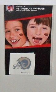 NFL-LOS-ANGELES-RAMS-4-TEMPORARY-TATTOOS-FAST-FREE-SHIPPING
