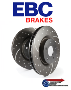 EBC Dimpled Grooved Pair of 2x Front Brake Discs - R33 GTS-T Skyline RB25DET