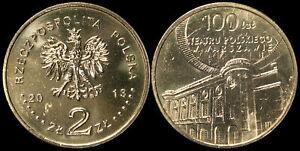 Pologne-2-Zloty-2013-Piece-KM-Y-854-Neuf-Theatre-polonais-a-Varsovie