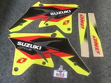 Suzuki RMZ250 2007-2009 One Industries Delta radiator shroud graphics kit 1G14