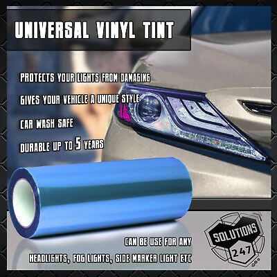 "*12/""x36/"" Glossy Clear Tint Headlights Fog Lights Sidemarker Vinyl Sticker Film"