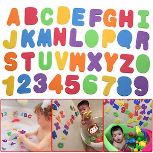 36-PCS-FOAM-BATH-NUMBERS-AND-LETTERS-TILE-CHILD-BABY-KIDS-BATH-TOY-WATER-FUN-UK