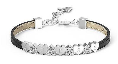 Guess My Gift For You Bracelet Armband Accessoire Black Schwarz Silber Einfach Und Leicht Zu Handhaben