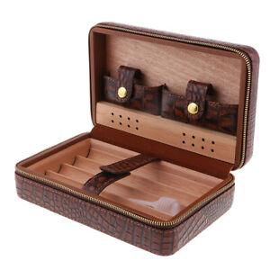 Dettagli su Portatile in legno di cedro Humidor per sigari da viaggio in  legno di cedro