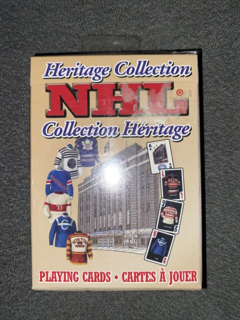 NHL HERITAGE COLLECTION ORIGINAL SIX PLAYING CARDS 1999 - FACTORY SEALED
