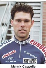 CYCLISME carte cycliste MARNIX CAPPELLE équipe IPSO eurosoap euroclean