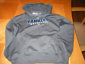hot sales 7e553 36b37 Details about Yankees hoodie jacket sweatshirt lightweight boys authentic  Majestic sz L