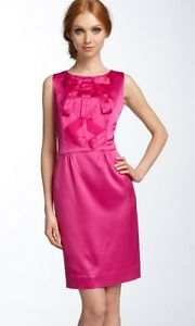 Details About Kate Spade Pink Amelia Silk Ribbon Bow Dress Size 4