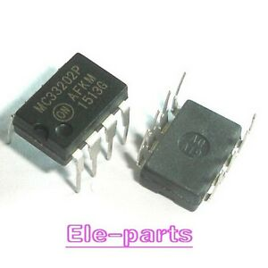 10 PCS MC33202P DIP-8 MC33202 33202 Rail-to-Rail Operational Amplifiers
