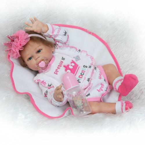 "1Pair Boy+Girl 20/"" Twins Reborn Doll Full Body Silicone Lifelike Bebe for Kids"