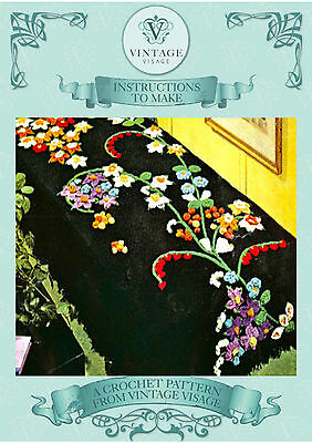 Vintage Crochet pattern-How to make vintage crochet flowers-liies etc