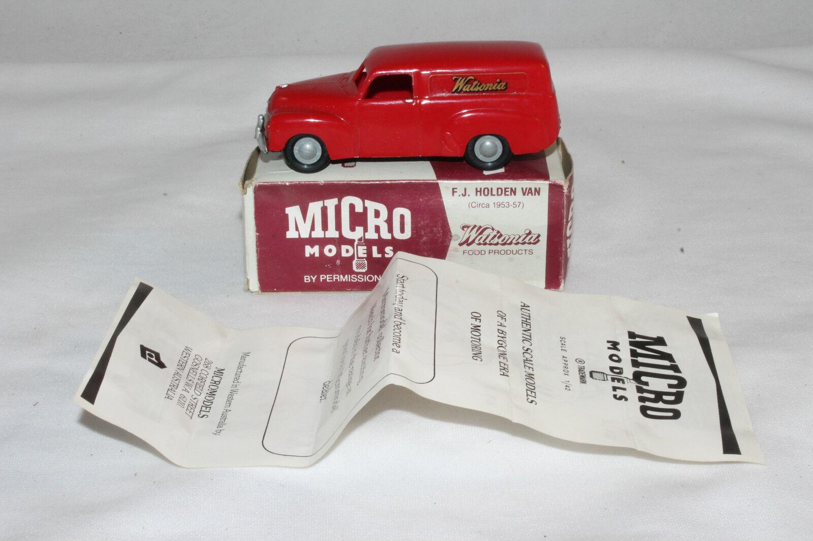 Micro Models  Wa-1 GM F. J. Holden Furgoneta, Watsonia,Plástico,Espectacular,