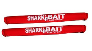 """30"""" SHARKBAIT AERO rack pads RED for 2 -3 inch cross bars For SUP & Surfboards"""