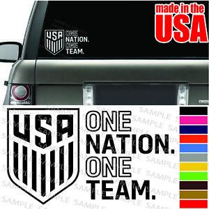 US USA NATIONAL SOCCER FOOTBALL TEAM cool Decal Car Window bumper color Sticker