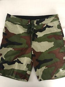 54bb32db51aba Stussy Men's Board Shorts / Swim Trunks Army Green Camo Camouflage ...