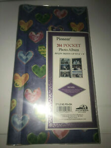 Pioneer-Scrapbook-Album-Blue-with-Hearts-PC4-204-34-Pages-Holds-204-4x6-Photos