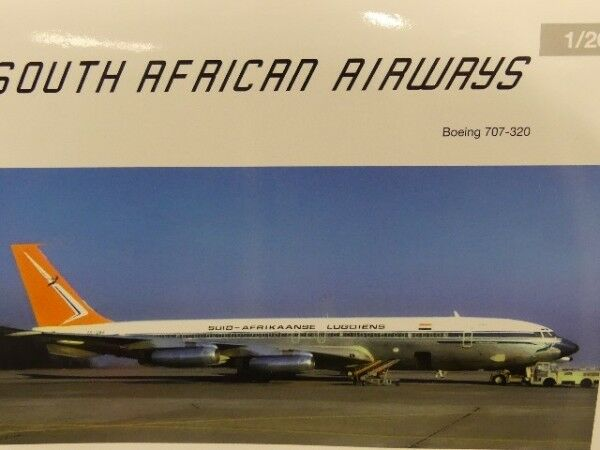 1 200 Herpa South African Airways Boeing 707-320 558693