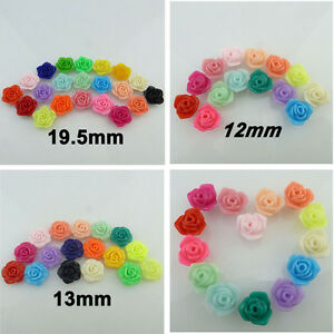 50-30X-12-13-19mm-Charm-Findings-Plastic-Acrylic-Candy-Color-Flower-Spacer-Beads