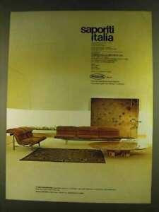 1980 Saporiti Italia Ad - Sofas Wave & Low Table Every