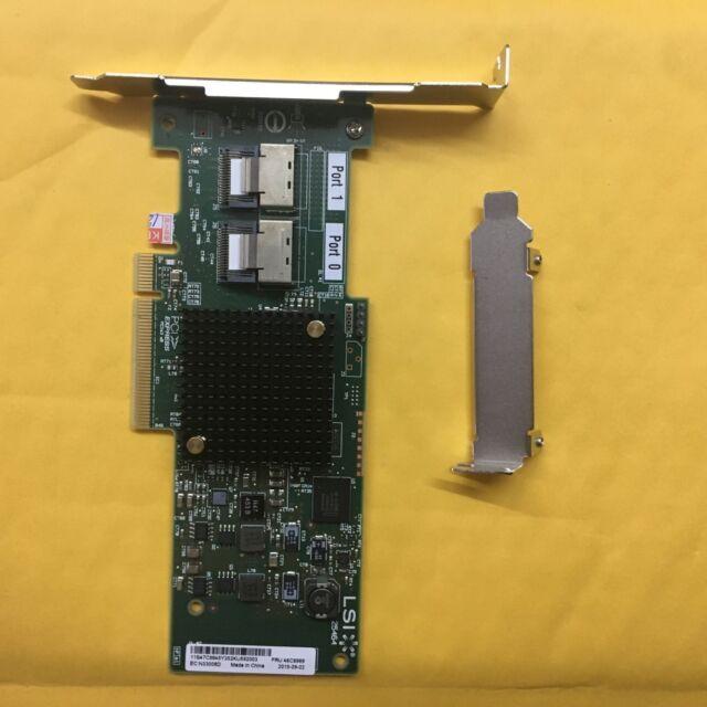 IBM LSI SAS SATA 8-port PCI-E 6Gb RAID Controller Card IT Mode 9208-8i = 9211-8I