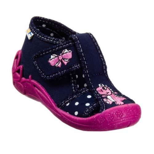 Girls canvas shoes nursery slippers sandals NEW size 3-8 UK Toddler BABY GIRL