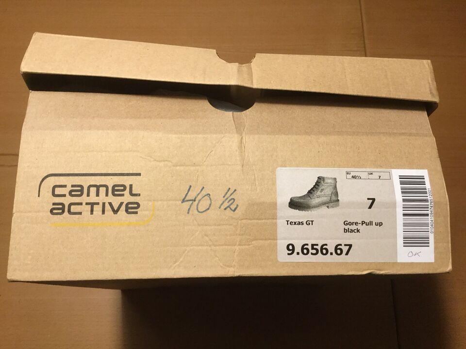 Støvler, str. 40,5, Camel Texas