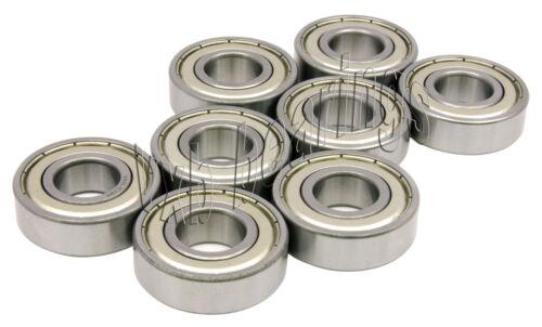 8 Longboard Bearings 608 LongboardZ Shielded Bearings