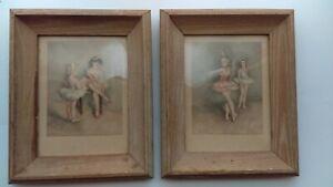 Vintage-Wood-Framed-Ballerina-Pictures-2