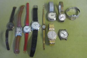 DDR Armbanduhren - Glashütte - Ruhla - Konvolut - Bastler & Sammler