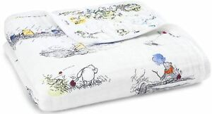 Aden + Anais Disney Baby Dream Couverture Winnie L'ourson 100% Coton Mousseline Bn-afficher Le Titre D'origine à Vendre