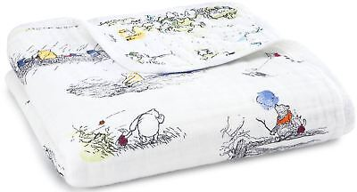 Bene Aden + Anais Disney Baby Dream Coperta Winnie The Pooh 100% Cotone Mussola Bn-mostra Il Titolo Originale Superficie Lucente