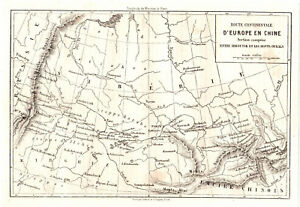 Details about Antique map Irkutsk Russia Siberia 1865 print Ural Mountains