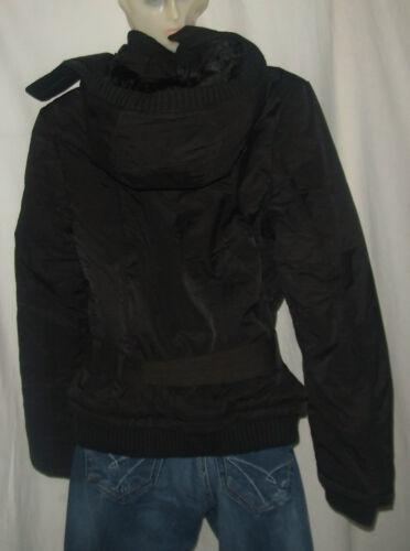 manica Giacca lunga nero L rimovibile taglia donna per Cappuccio Schott qCaBwR