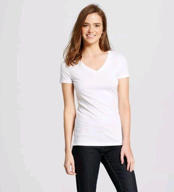 193c45eba Mossimo Women Short Sleeve Blouse Top Size Extra Small Tee V-Neck T ...