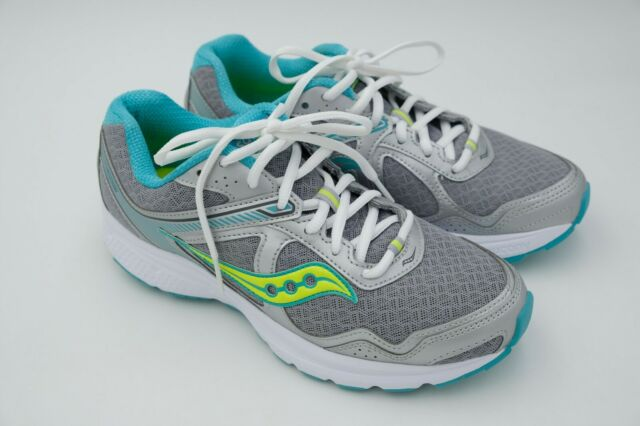 Saucony Cohesion 10 Running Shoes Women's Sneaker Grey Teal US 8.5 M EU 40 Used