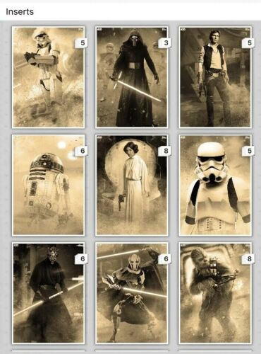 Topps Star Wars Card Trader SDCC Fight for the Galaxy SEPIA set with Boba Meld