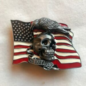 2f7a798443b3 Boucle de ceinture USA   Pirate   TETE de Mort   Ceinturon   Etats ...