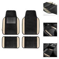 Beige Black Carpet Floor Mats For Auto Car Sedan Suv Van Universal Fitment Fits 2012 Toyota Corolla