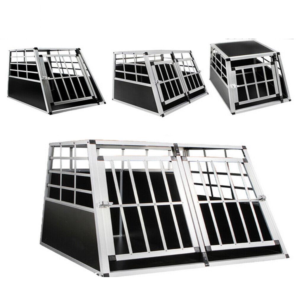 Doppel Hundetransportbox Transportbox Alubox Gitterbox Reisebox Hundebox Box Top