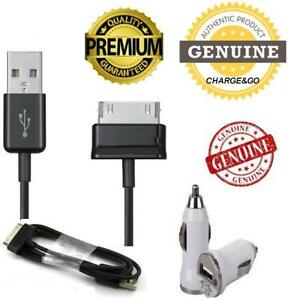 Samsung-Galaxy-Tab-2-amp-7-034-10-1-034-Note-8000-USB-Data-Charging-Cable-amp-Car-Charger