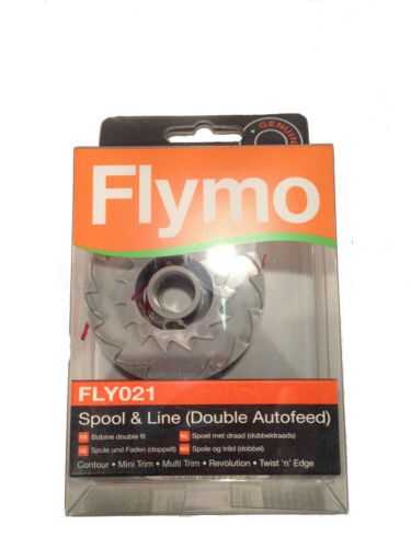 Genuine Flymo Strimmer//Trimmer Double Spool /& Line FLY021 5139371-90