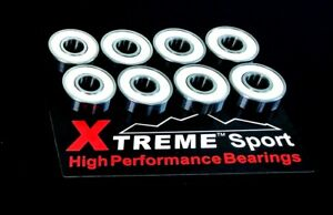 8-Pack-Xtreme-Zr02-ABEC-11-608-RS-CERAMIC-HYBRID-BEARINGS-SKATEBOARD-SCOOTER