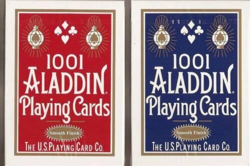 12 DECKS 1001 Aladdin smooth finish playing cards FREE USA SHIPPING ON 2ND BRICK