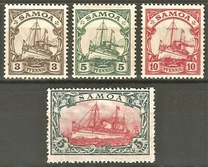 DR-Colonies-SAMOA-Reich-Rare-WW1-Stamp-1915-Kaiser-Yacht-Ship-Service-Classic