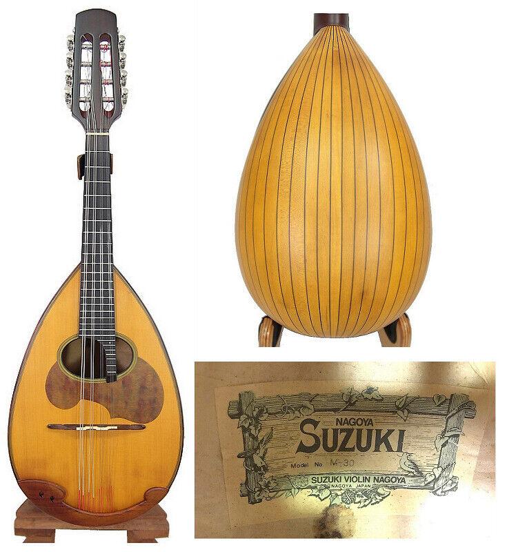 Japan NAGOYA Suzuki M30 Solid Spruce top Solid Maple Bowl back Mandolin OJMN378